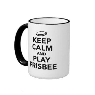 Keep calm and play Frisbee Ringer Mug