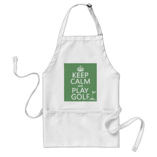 Keep Calm and Play Golf - all colors Adult Apron