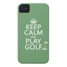 Keep Calm and Play Golf - all colors Case-Mate iPhone 4 Case