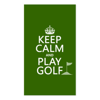 Keep Calm and Play Golf - all colors Double-Sided Standard Business Cards (Pack Of 100)