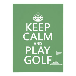 Keep Calm and Play Golf - all colors Personalized Invitation