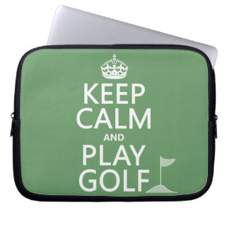 Keep Calm and Play Golf - all colors Laptop Sleeves