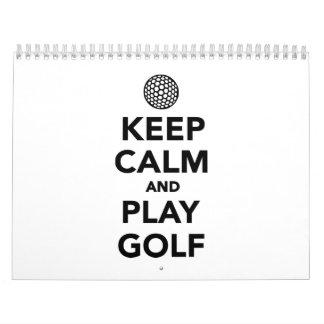 Keep calm and play Golf Wall Calendars