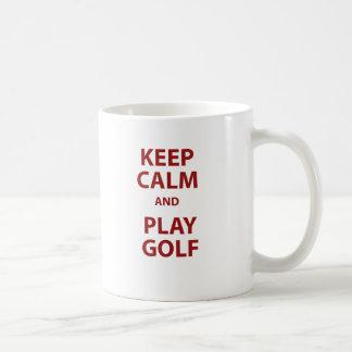 Keep Calm and Play Golf Coffee Mug