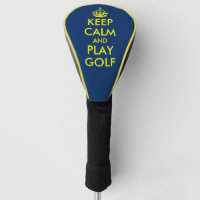 Keep calm and play golf funny men's gift golf head cover