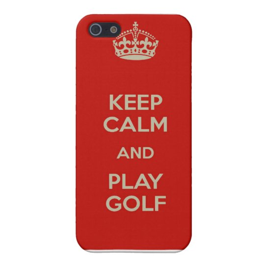 Keep Calm and Play Golf iPhone Case