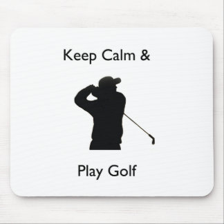 Keep calm and play golf mouse pads