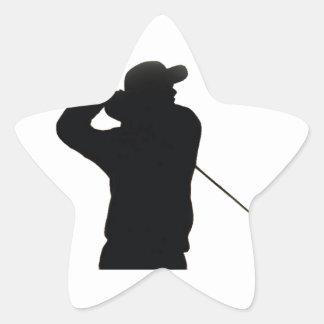 Keep calm and play golf star sticker