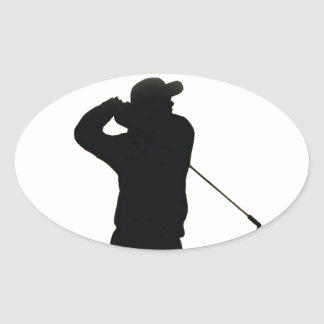 Keep calm and play golf oval sticker