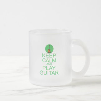 Keep Calm and Play Guitar (Acoustic) Frosted Glass Coffee Mug