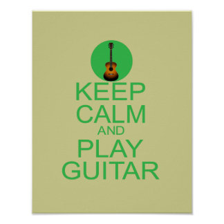Keep Calm and Play Guitar (Acoustic) Poster