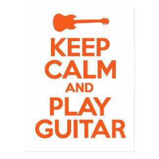 Keep Calm And Play Guitar Cool Design Postcard
