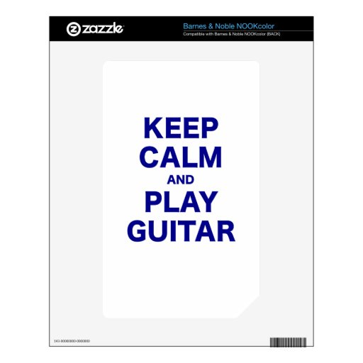 Keep Calm and Play Guitar Decals For The NOOK Color