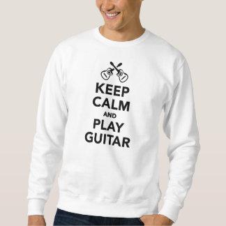 Keep calm and Play guitar Sweatshirt