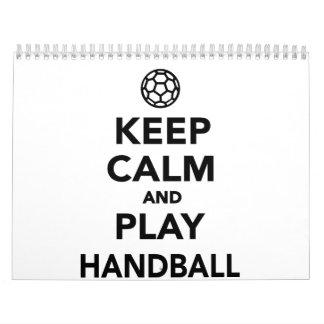 Keep calm and play Handball Calendar