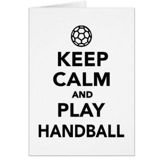 Keep calm and play Handball Card