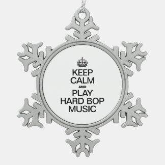 KEEP CALM AND PLAY HARD BOP MUSIC ORNAMENTS