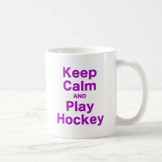 Keep Calm and Play Hockey Coffee Mug