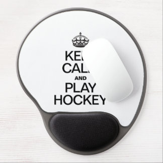 KEEP CALM AND PLAY HOCKEY GEL MOUSE MATS