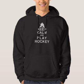 Keep Calm and Play Hockey Hoodie