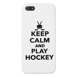 Keep calm and play Hockey iPhone 5/5S Covers