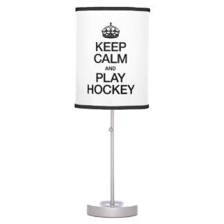 KEEP CALM AND PLAY HOCKEY TABLE LAMP
