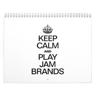 KEEP CALM AND PLAY JAM BRANDS WALL CALENDARS