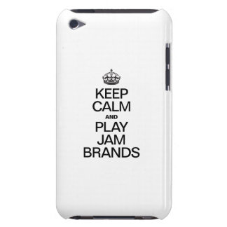 KEEP CALM AND PLAY JAM BRANDS BARELY THERE iPod CASE
