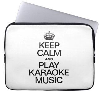 KEEP CALM AND PLAY KARAOKE MUSIC COMPUTER SLEEVES