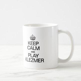 KEEP CALM AND PLAY KLEZMER COFFEE MUG