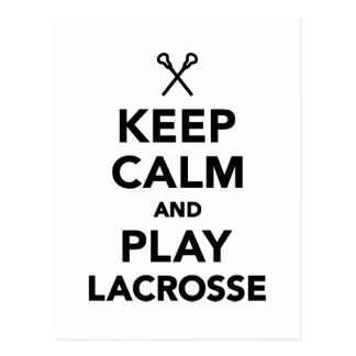 Keep calm and play Lacrosse Postcard