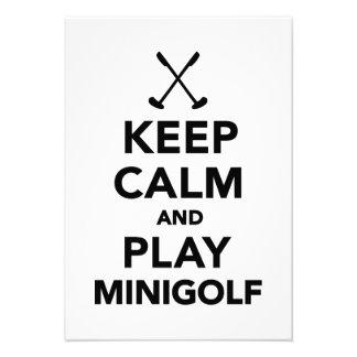 Keep calm and play Minigolf Invites