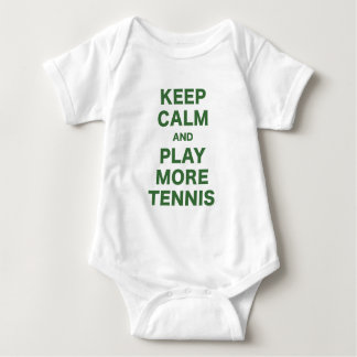 Keep Calm and Play More Tennis Baby Bodysuit