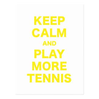 Keep Calm and Play More Tennis Postcard
