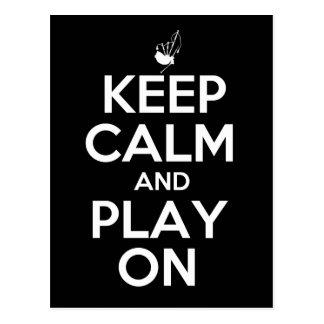 Keep Calm and Play On Bagpipes Postcard