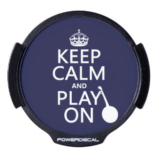 Keep Calm and Play On (Banjo)(any bckgrd color) LED Car Window Decal