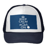 Keep Calm and Play On (Banjo)(any bckgrd color) Trucker Hat