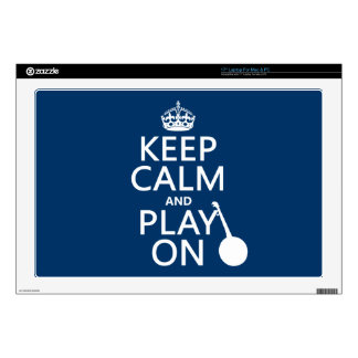 Keep Calm and Play On (Banjo)(any bckgrd color) Laptop Skin
