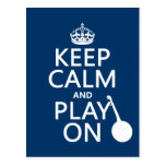 Keep Calm and Play On (Banjo)(any bckgrd color) Postcard