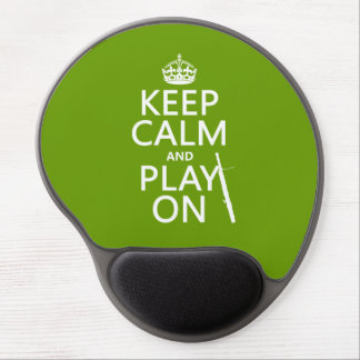 Keep Calm and Play On (Bassoon)(any color) Gel Mouse Pad