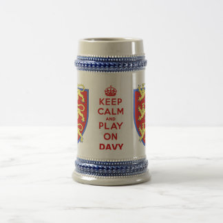 Keep Calm and Play On Beer Stein