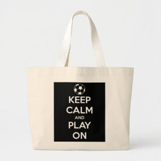 Keep Calm and Play On Black Tote Bag