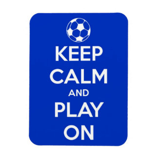 Keep Calm and Play On Blue Flexi Magnet