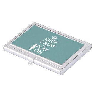 Keep Calm and Play On Business Card Case