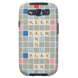 Keep Calm And Play On Samsung Galaxy SIII Cases