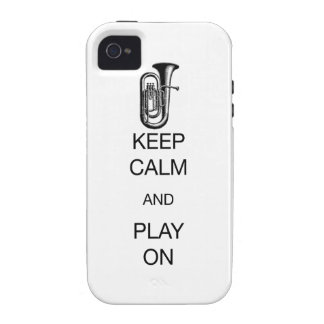 KEEP CALM AND PLAY ON Case-Mate iPhone 4 COVERS