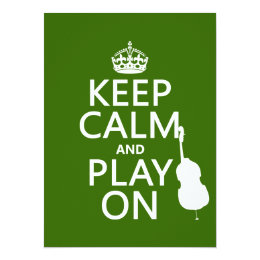 Keep Calm and Play On (cello) (any color) Card
