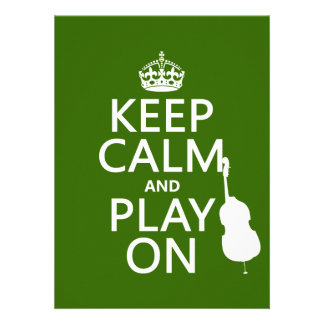 Keep Calm and Play On (cello) (any color) Announcement