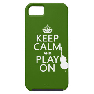 Keep Calm and Play On (cello) (any color) iPhone 5 Case