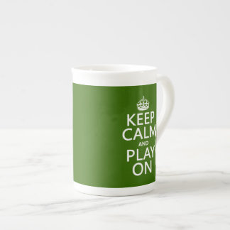 Keep Calm and Play On (cello) (any color) Tea Cup